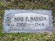 Mae E Barker