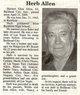"""Profile photo:  Herbert Glen """"Herb"""" Allen"""