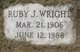 Ruby J. <I>Lunny</I> Wright