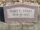 Mary Charlotte <I>Courtney</I> Stahl