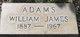 William James <I> </I> Adams,