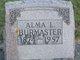 Profile photo:  Alma L. Burmaster