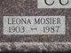 Leona <I>Mosier</I> Curtis
