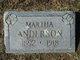 Profile photo:  Martha <I>Cartwright</I> Anderson