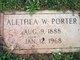 Alethea Mary <I>Wallace</I> Porter