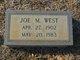 Joe M West