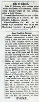 "John Frederick ""Stick"" Johnson"