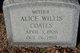 Profile photo:  Alice <I>Willis</I> Coates