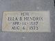 "Profile photo:  Ella ""Pete"" <I>Blackburn</I> Hendrix"