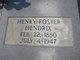 Profile photo:  Henry Foster Hendrix