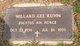 "Willard Lee ""Butch"" Kuhn"