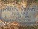 Roberta <I>Wilfert</I> Bullard
