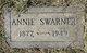 Profile photo:  Annie B. <I>Swarner</I> Albright