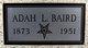Profile photo:  Adah L <I>Heckard</I> Baird