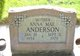 Anna Mae <I>West</I> Anderson