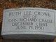 Ruth Lee <I>Crowe</I> Cralle