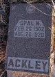 Profile photo:  Opal M. Ackley