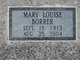Mary Louise <I>Patteson</I> Borrer