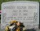 """Dorothy Harriett """"Dot"""" <I>Helton</I> Young"""