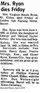 Maude Virginia <I>Kelsay</I> Ryan
