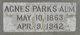 Profile photo:  Agnes <I>Parks</I> Alm