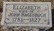 Elizabeth <I>Knauss</I> Hagenbuch