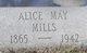 Alice May <I>Williams</I> Mills