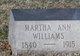 Martha Ann Williams
