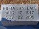 Profile photo:  Hilda <I>Lansdale</I> Carlisle