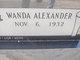 Profile photo:  Wanda Lee <I>Alexander</I> Crockett