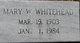 Mary Helen <I>Wall</I> Whitehead