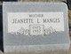 Jeanette L <I>Schafer</I> Manges