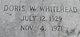 Doris Jean <I>Wilbanks</I> Whitehead