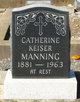 Profile photo:  Catherine <I>Keiser</I> Manning