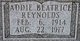 Profile photo:  Addie Beatrice <I>Reynolds</I> Rasbury