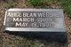 Alice <I>Bean</I> Webster