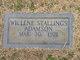 Profile photo:  Willene <I>Stallings</I> Adamson