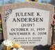 "Profile photo:  Julene Kay ""Julie"" <I>Judy</I> Andersen"