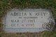 Profile photo:  Adelia K <I>Ausdenmoore</I> Avey