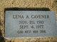 Profile photo:  Lena A. Cavener