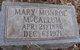 Mary <I>Monroe</I> McCallum