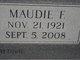 Maudie F <I>Anglin</I> Rayburn