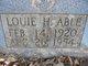 Louie H Abel