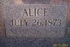 Profile photo:  Alice Bohannon