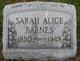 Sarah Alice Barnes