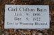 Profile photo:  Carl Clifton Bain