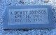 "Admiral Dewey ""Dewey"" Johnson"