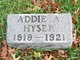 Profile photo:  Addie A. Hyser
