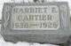 Profile photo:  Harriett E. Cartier