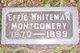 Effie <I>Whiteman</I> Montgomery
